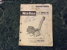985319 - A Used Original Operators Manual For A New Idea No. 327 Husking Unit.