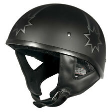 M Rebel Eureka Flag Open Face Matt Black Motorbike Helmet Matte Chopper Harley