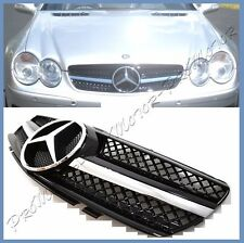 Gloss Black SL63AMG Type Front Grille For 03-2006 R230 M Benz SL500 SL600 SL55