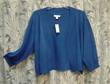 ROYAL BLUE OPEN FRONT CARDIGAN SHRUG BOLERO JACKET SWEATER TOP~3X~24/26W~NEW