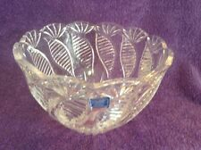 "Crysral Legends by Godinger Poland 8 1/2"" D. x 5 1/2"" T. Cut Lead Crystal Bowl"
