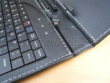Mini-USB Keyboard 7 inch Leather Stand Case Cover for 7'' Android  tablet-Black