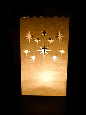 10 Star Paper Tea-Light Lantern Candle Bag - Xmas BBQ Party Wedding