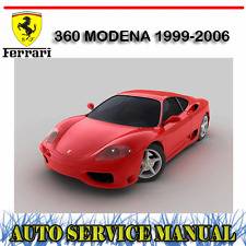FERRARI 360 MODENA 1999-2006 WORKSHOP SERVICE REPAIR + PARTS MANUAL ~ DVD