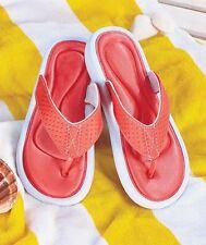 Women's Memory Foam Comfort Sandals Flip Flops Large Size 9 Coral Color