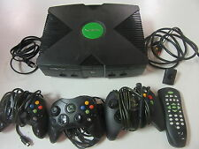 Microsoft Original Xbox Console Bundle Controllers DVD Remote Tested