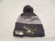 NEW ERA NFL GOLD COLLECTION KNIT CAP POM HAT PHILADELPHIA EAGLES BEANIE RETRO
