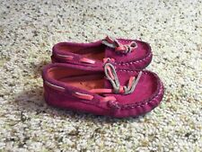 Cole Haan suede baby moccasins leather PINK toddler size 4 slip-on Kd1