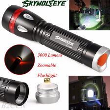 3000 Lumens Zoomable 3 Modes CREE XML T6 LED 18650 Flashlight Torch Lamp Light