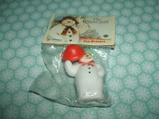 Rare Vintage 1980s The Snowman Sealed Character eraser rubber gomme gommine