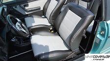 VW Golf 1 Cabrio, Ledersitze, Lederausstattung, Sitzbezüge, schwarz grau
