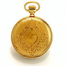 14K Gold Engraved Case 21-Jewel Non-Magnetic Watch Co. Illinois Pocket Watch