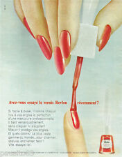 PUBLICITE ADVERTISING 115  1965  le vernis à ongles REVLON