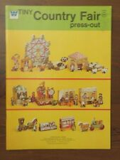 Vintage Whitman Tiny Country Fair PRESS-OUT book Unused Excellent