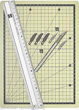 Busch 7202 Set di taglio, con righello, coltelli, sottoposto Taglio, Nuovo