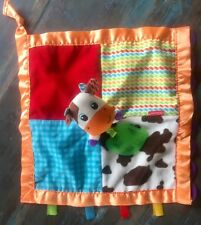INFANTINO LOVEY SECURITY BLANKET COW FARM FRIEND NUNU TEETHER PATCH