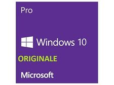Microsoft Windows 10 Pro ESD 32/64 bit  ORIGINALE versione completa professional