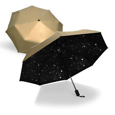 Starry Sky Creative Windproof Anti UV Sun/Rain Star 3 Folding Umbrella Gift New