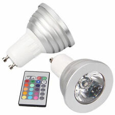 GU10 5W 16 Color Changing RGB LED Spotlight Light Lamp IR Remote Control