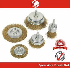 "5pcs Wire Brush Set – remove clean dirt paint rust residue - 1/4""(6mm) shank"