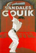 Art Poster Gouik Shoes Jai alai Deco Ad  Print
