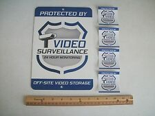 Video Surveillance Security System Yard Sign & 4 Window Stickers - Stock # 715