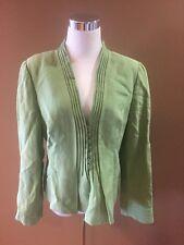 Armani Collezioni Green Blazer Size 12 Made In Italy