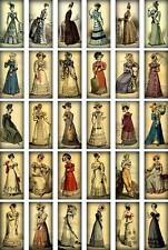 30 LADIES DRESS PARASOL VINTAGE 155 lb SCRAPBOOK PAPER CRAFT CARD TAGS LAMINATED