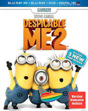 Despicable Me 2 (Blu-ray/DVD, 2013, 2D & 3D Blu-ray, 3-Disc Set)
