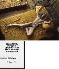 orig. Foto Hippie-Mädchen nackt Busen Voyeur Erotik Fetisch München Pop Art 1968