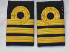 Distintivo di grado ROYAL NAVY, Commander , inglese Marine,gold su nero