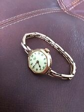 Ladies Vintage Swiss Made 9ct Gold Limit No.2 Watch With 9ctGold Expanding Strap