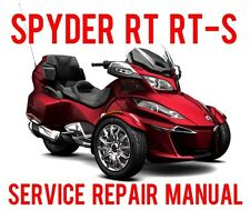 2015 2016 Can-Am Spyder RT RT-S RT Limited Special Shop Service Manual - On CD