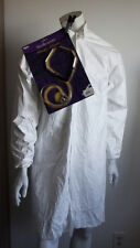 Mad Doctor Scientist Lunatic Costume White Lab Coat Crazy Stethoscope Adult M u2