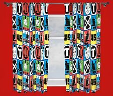 THOMAS THE TANK ENGINE 'TEAM' PAIR OF CURTAINS GIRLS BOYS KIDS- 66 x 54 Inch
