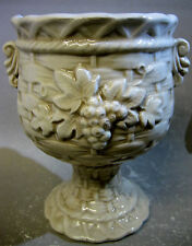 Vintage Rustic Grapes Japanese pottery vase / cup