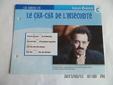 CARTE FICHE PLAISIR DE CHANTER LOUIS CHEDID LA CHA CHA DE L'INSECURITE