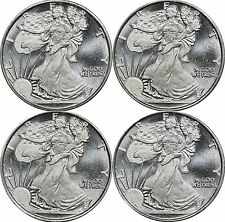Lot of (4) 1/2 oz 0.999 Silver Round, Walking Liberty Design