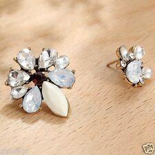 Wholesale 1pair Woman's White Crystal Rhinestone Long Ear Stud Hoop earrings 107