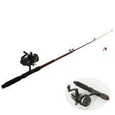 New Portable Fishing Rod with Fishing Reels Lines  Floats and Hooks fish Set