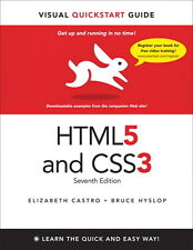 Visual QuickStart Guide: HTML5 and CSS3 by Elizabeth Castro and Bruce Hyslop...