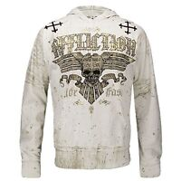 Affliction BARS Pullover Hoodie M L NWT NEW Sweatshirt Skull