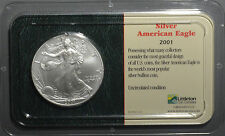 2001 American Silver Eagle UNC in Littleton Coin Company Showpak Packaging