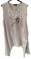 Ladies dress Summer by Sarah Santos Natural size XL Layered look MADE IN ITALY
