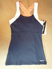 Unique NWT HEAD Extra Small Navy/Coral/White Tennis/Golf/Sports Tank Top