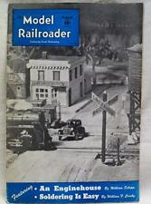 MODEL RAILROADER MAGAZINE AUGUST 1943 WWII VINTAGE TRAIN ENGINE HOUSE