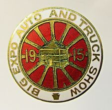 Pittsburgh 1915 BIG EXPO AUTO AND TRUCK SHOW enamel inlay collar stud +