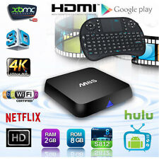 Fully Loaded 4K,1080p M8S Amlogic S812 Quad Core Android Smart TV Box+Keyboard