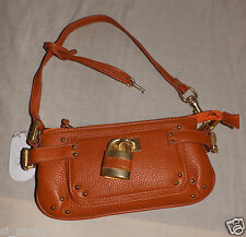 Women Caramel Shoulder Bag-Purse with Locker Remov Straps Size Small