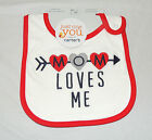 NEW Carters Unisex Baby Mom Loves Me Bib, Valentines, Mother's Day